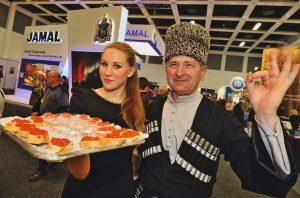 IGW 2012 – Russland Wodka und feiner Kaviar aus der Region Jamal IGW 2012 – Russia Vodka and fine kaviar from Jamal